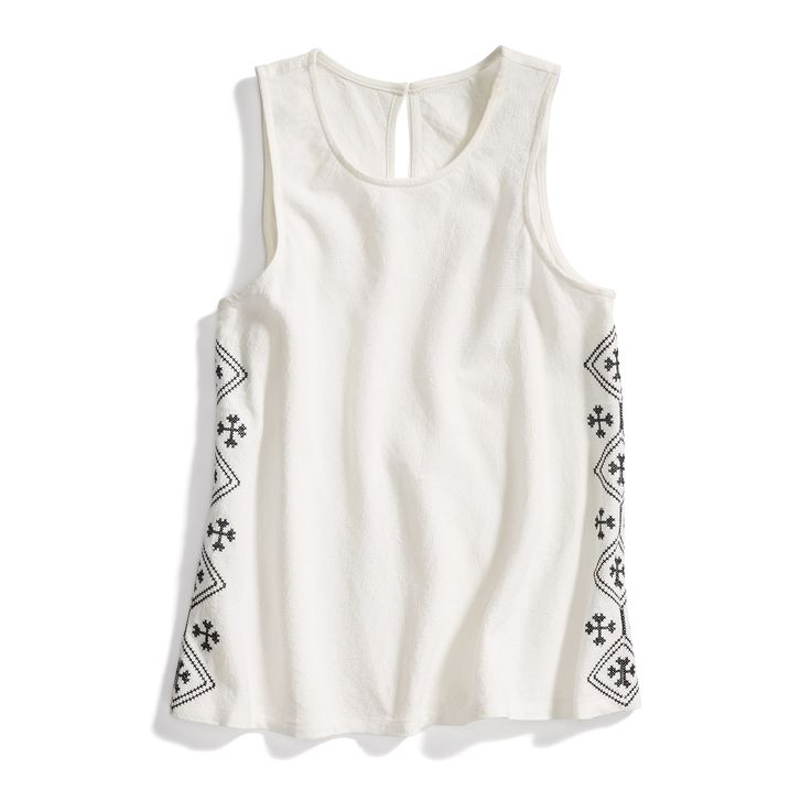 Stitch Fix Boho Style: Embroidered Detail Tank