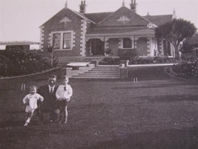 Lesmahagow about 70 years ago. The people on the croquet lawn are probably members of the McSkimming family. Photo supplied.