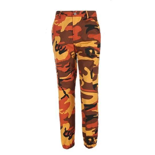 Women High Waist Camouflage Pants Fashion Pantalon Femme Trouser Ankle-Length Sweatpants Cotton Streetwear Camo Pants Plus Size – dresslilyy
