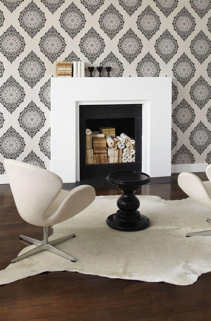 Perfectly paisley #wallpaper #paisley #charcoal