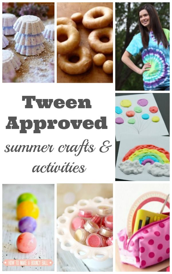 Summer crafts and activities for tweens crafts for Projects for tweens