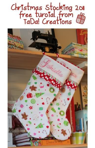 Excellent tutorial for Christmas stockings -- not your super-quick version, but worth the extra time.