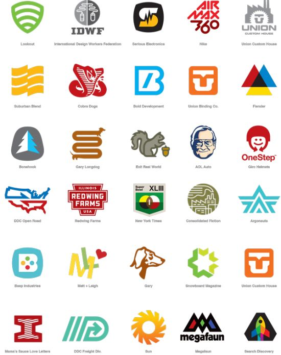 A collection of logos designed under the DDC banner.