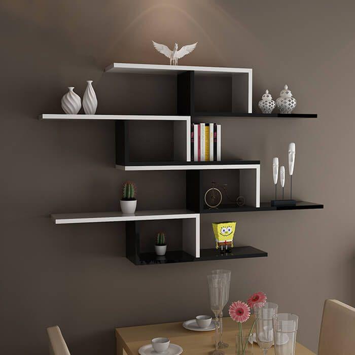 Idea L Shaped Floating Wood Shelf In 2020 Floating Shelves Floating Shelves Diy Floating Shelf Decor