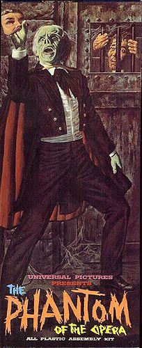 James Bama's early illustration of the Phantom of the Opera for Aurora.