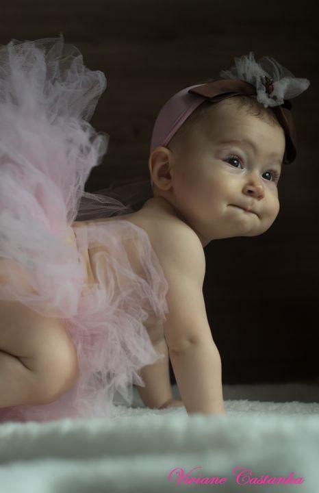 Fotografia bebê bailarina!