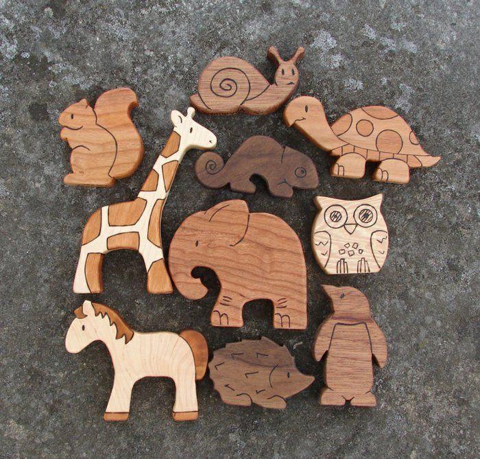 jouets en bois, jolis animaux de tous les continents