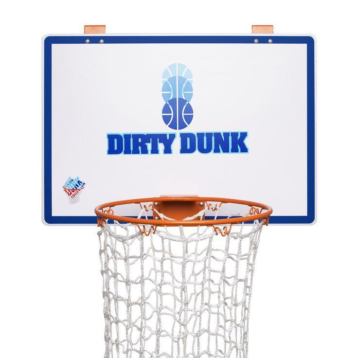 The Dirty Dunk   The Original Over The Door Basketball Hoop Laundry Hamper.