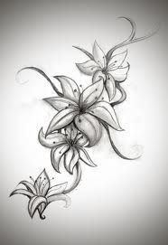 getting this design without the bottom lily tattooed on my lower side & hip. Don't know if I want b or color yet