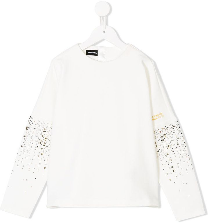 Diesel shirt with embellished sleeves
