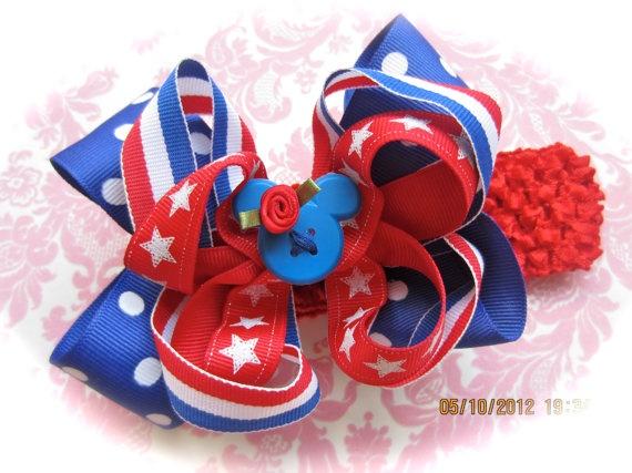 Disney's Minnie Mouse polka dots and stripe ribbon 3 by ashligug, $8.50