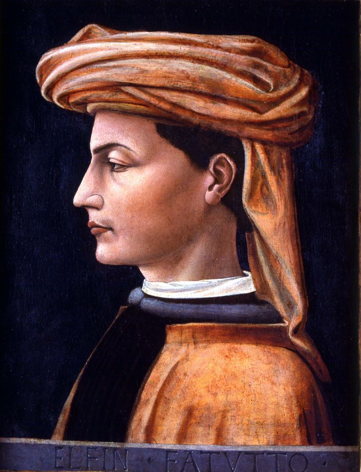 (attr.ne ) Domenico Veneziano, ritratto di uomo, museo della città di Chambery (F)