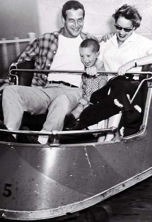 Paul Newman, first wife Jackie Witte son Scott 1955