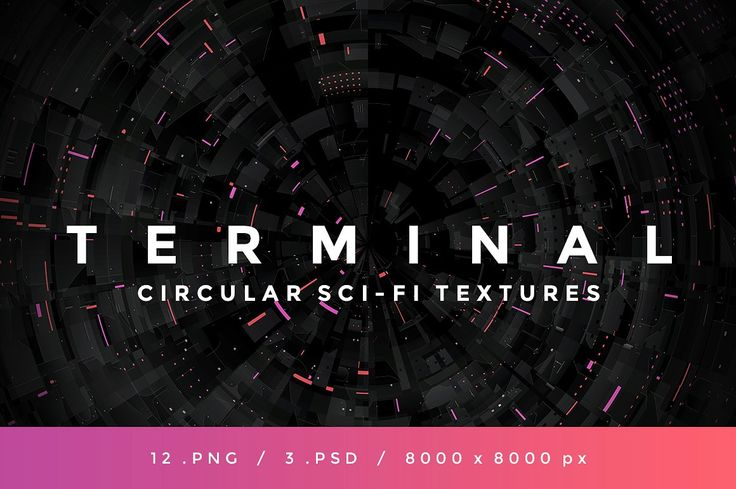 TERMINAL - Circular Sci-Fi Textures by INSgraphizm on @creativemarket