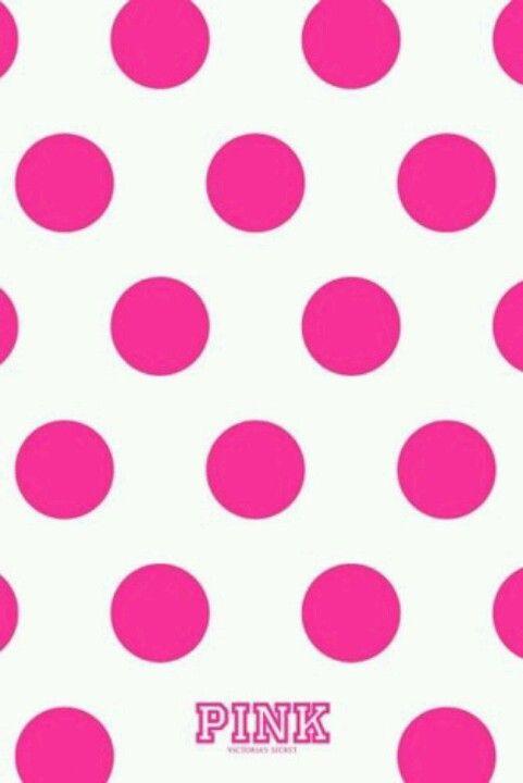 PINK Polka Dots Wallpaper Pink Love Pink