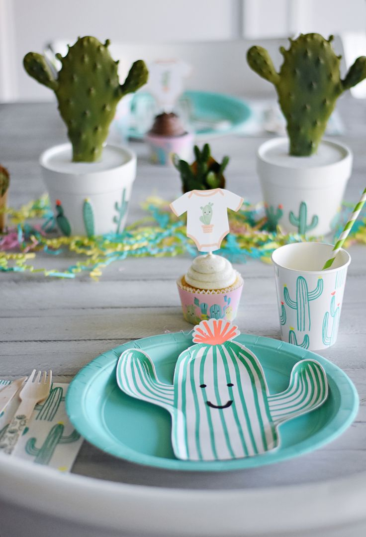 Project Nursery - Cactus Party Plates - Project Nursery