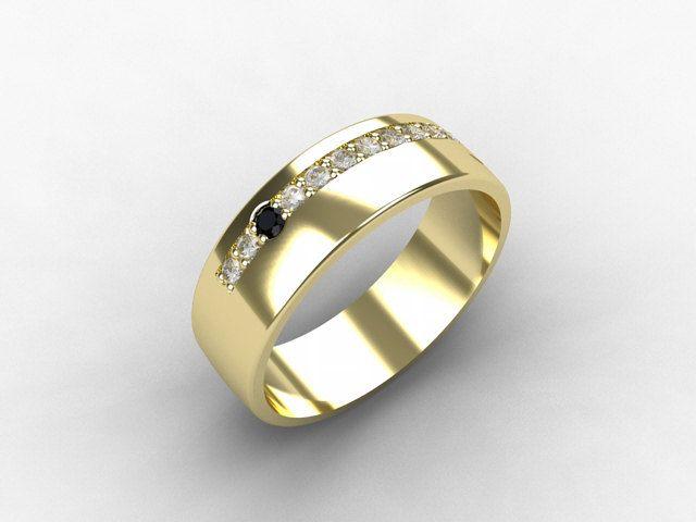 mens yellow wedding rings