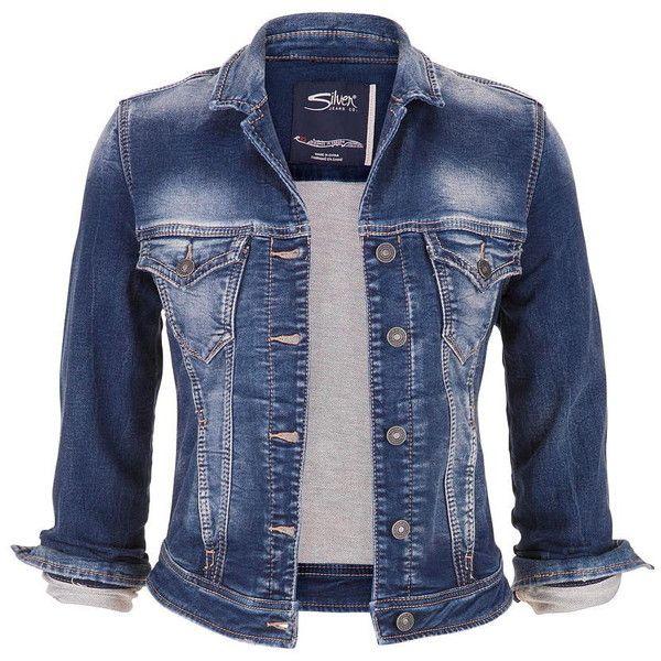 maurices Silver Jeans ® Dark Wash Denim Jacket found on Polyvore featuring outerwear, jackets, coats, coats & jackets, tops, dark sandblast, silver jacket, blue denim jacket, maurices and button jacket