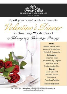 Limited space available so hurry and secure your reservation for a Romantic Valentines Dinner now!