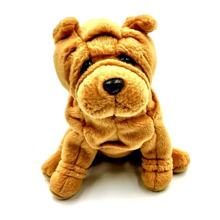 Ty beanie babies crinkles dog shar pei puppy soft plush teddy toy kids gift 2004