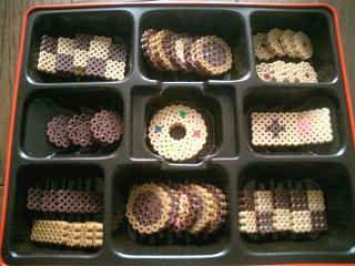 Kekse aus Bügelperlen - für Kinderkücher / Kaufmannsladen