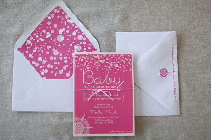 baby it's cold outside! – baby shower invitations » Lindsay Arneson Creative