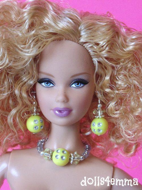 Barbie Doll sieraden - gele Sunny diamanten sieraden Set past Model Muse en meer - door dolls4emma