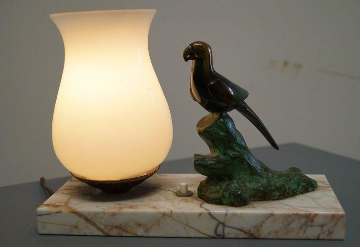 Lampe art d co perroquet loft vintage moderniste for Lampe design scandinave
