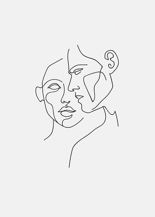 Faces No2 Poster in the group Posters & Prints / Sizes / 50x70cm | 20×28 at Dese…