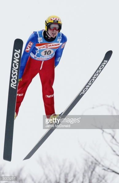 Tommy Ingebrigtsen of Team Norway takes to the air during the FIS Ski Flying World Cup on February 22 2004 in Plancia Slovenia