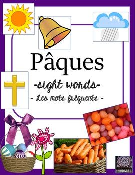 FRENCH - Use these 56 French flashcards to help your students learn the words of Pâques! Included are 14 pages that can be used either as posters in the classroom or cut up to be individual word wall flashcards. Use all of the 56 vocabulary cards or choose the ones you wish to use.