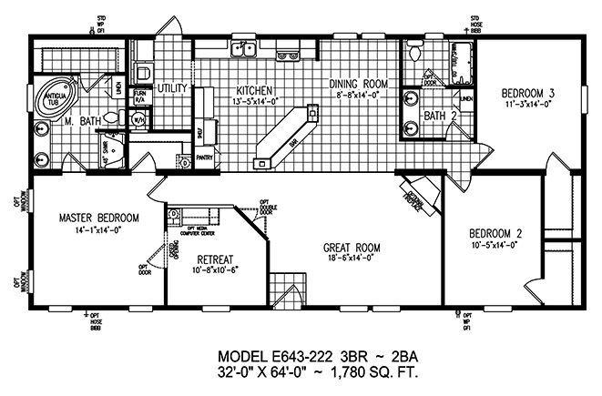 Destiny Homes Floor Plans, Additional Mobile Home Floor Plans and Manufactured Home Floorplans from Destiny Homes Homes Dealer in Homosassa Florida