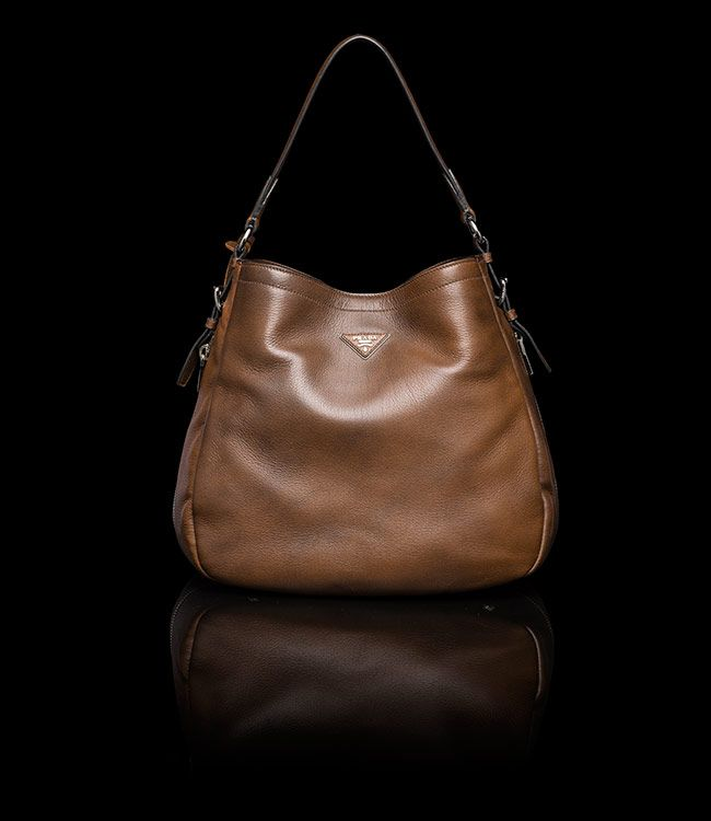 Prada Hobo Bag. In Brown. Item # Br5006_013_f0038-1. DEERSKIN HOBO ...