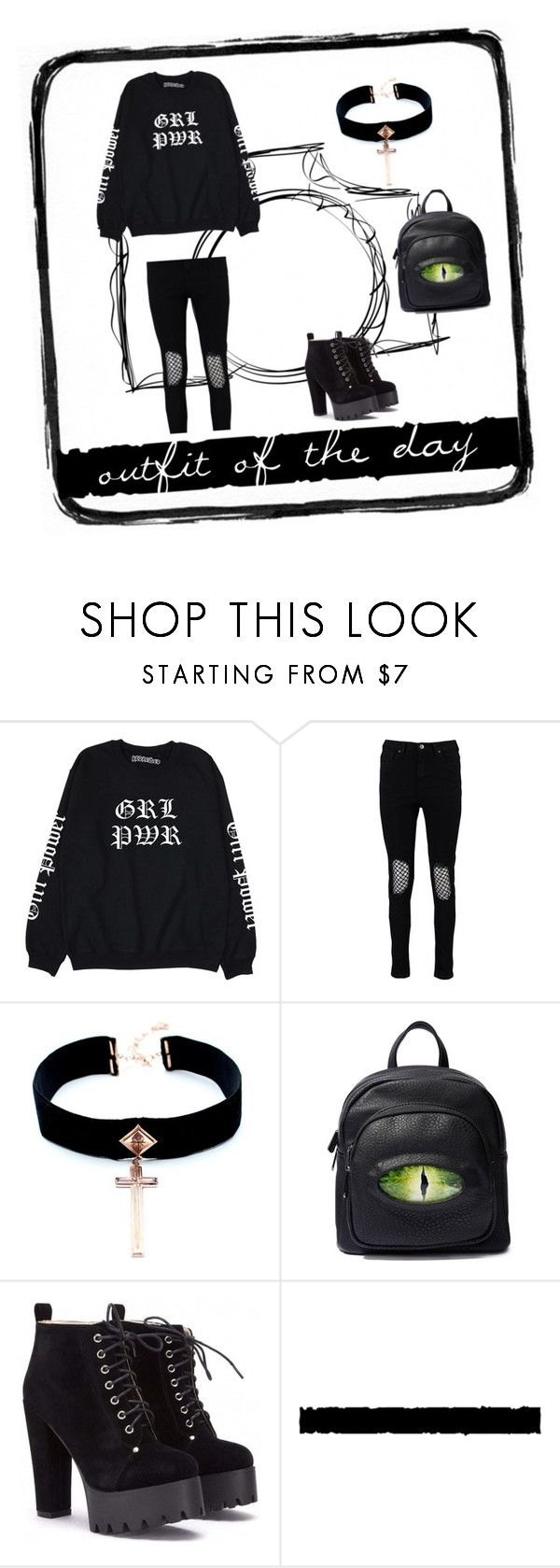 """GOTIC"" by ms-qwe on Polyvore featuring мода, Boohoo, VSA, Killstar и Tim Holtz"