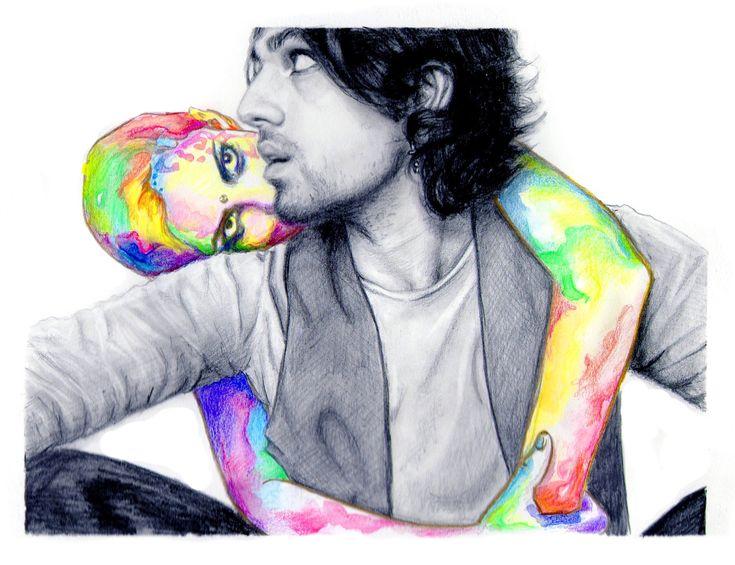 #рисунок #картина  #искусство  #art #painting #drawing #illustration #couple #love by Yulia Malahova https://www.instagram.com/amita_art