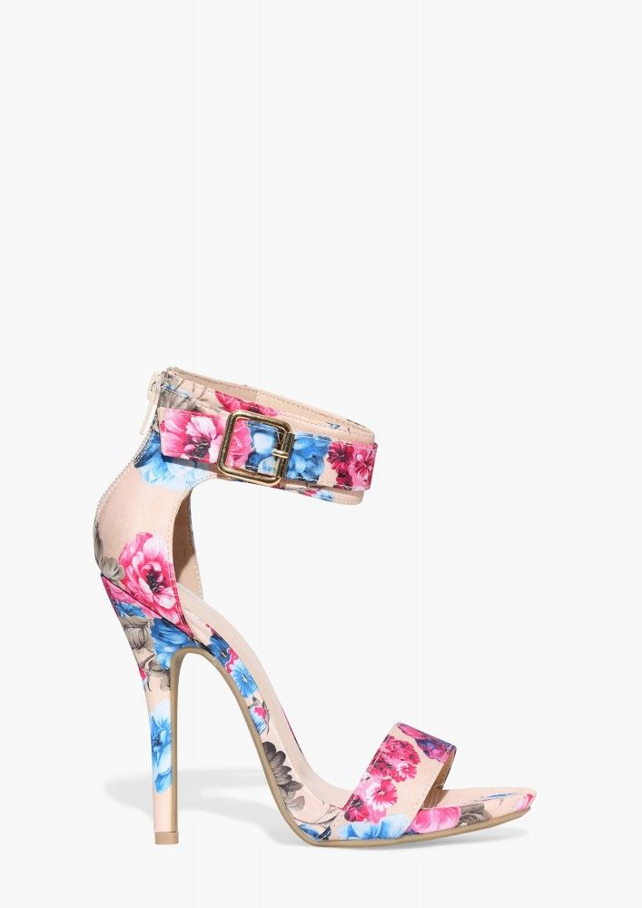 1000  ideas about Floral Strappy High Heels on Pinterest   Strappy ...
