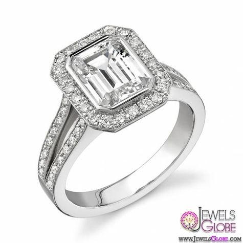 Emerald Cut Diamond Platinum Engagement Rings | Top Jewelry Brands, Designs & Online Jewellery Stores