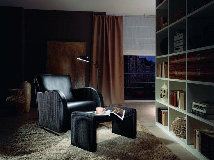 TWENTYFIVE fotel i WAVE podnóżek. Lloyd Loom Furniture Accente.