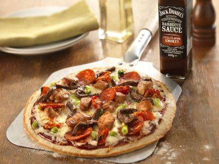 meat feast pizza looks scrummy
