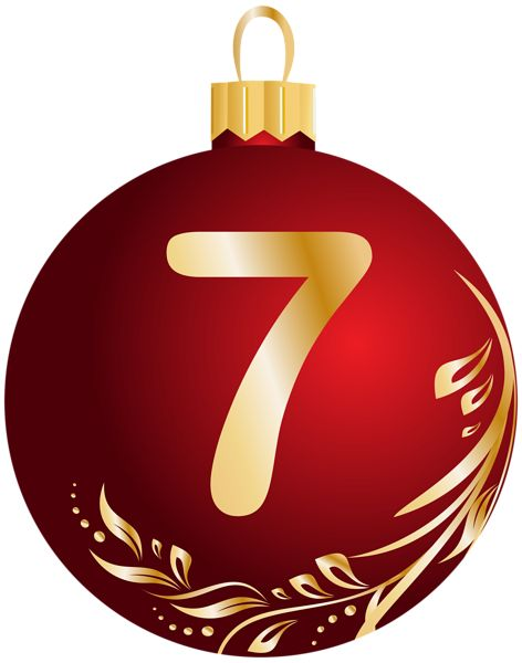Christmas Ball Number Seven Transparent PNG Clip Art Image