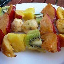 Grilled Fruit Kabobs Allrecipes.com: Kabobs Recipe, Cute Ideas, Fruit Kabobs, Kabob Recipes, Fruit Recipe, Grilled Fruit, Fruit Ideas, Allrecipes Com, Bbq Recipe