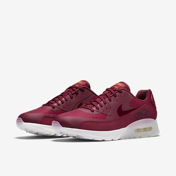 new concept 366bc 68ab5 Nike Air Max 90 Ultra Womens Noble Red Summit White Bright Crimson Noble  Red Sale UK