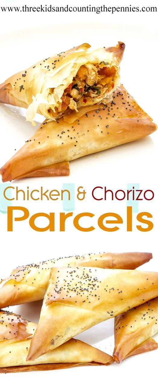 Simple but super tasty chicken & chorizo parcels.