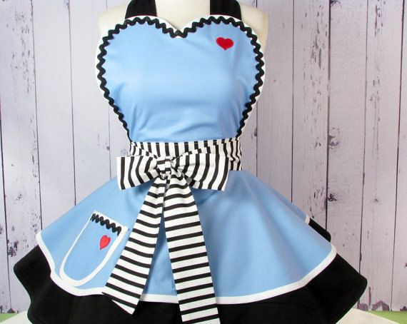 Alice in Wonderland Tea Party Apron by Dots Diner by dotsdiner