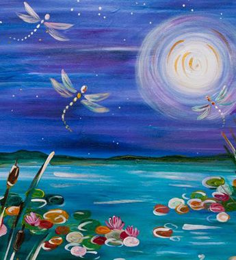 drawing _ easy acrylic dragonfly _ the paint bar.com _ pagoda jackie schon