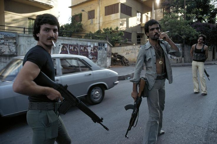 Fighting with style. East Beirut 1978 (Lebanese Civil War).