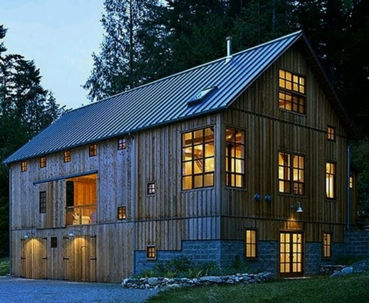old barn converted into cozy home home pinterest barn homes a house and house. Black Bedroom Furniture Sets. Home Design Ideas
