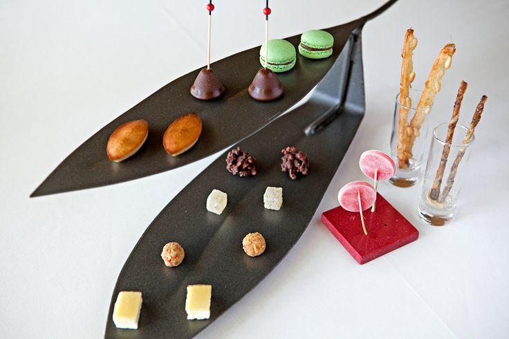 A platter of after-dinner sweets at Sant Pau Restaurant - Catalonia   Europe.  NYTimes.com