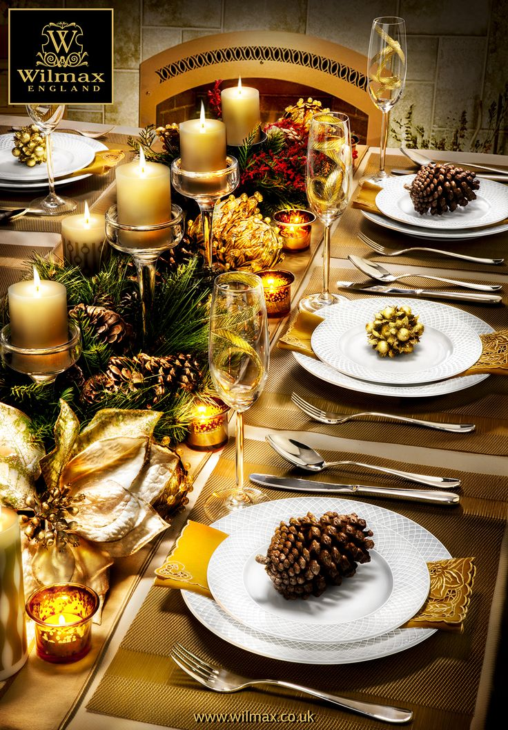TABLE SETTING WITH WILMAX Christmas and New Year table
