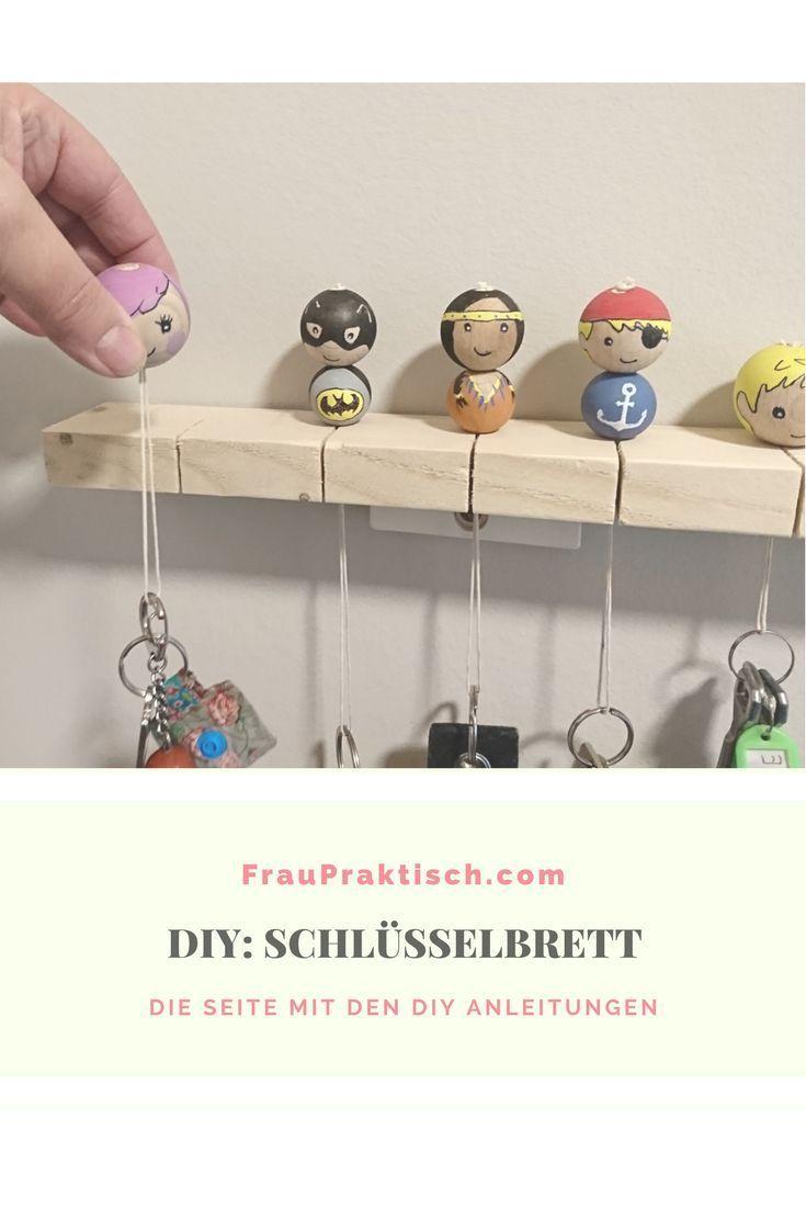 Schlüsselbrett Selbermachen DIY Basteln